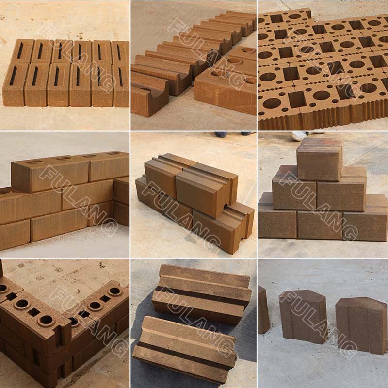 different compressed earth block samples