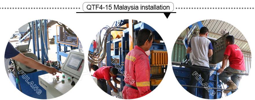cement block laying machine installation abroad