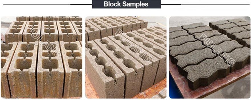 block machine installation abroad samples
