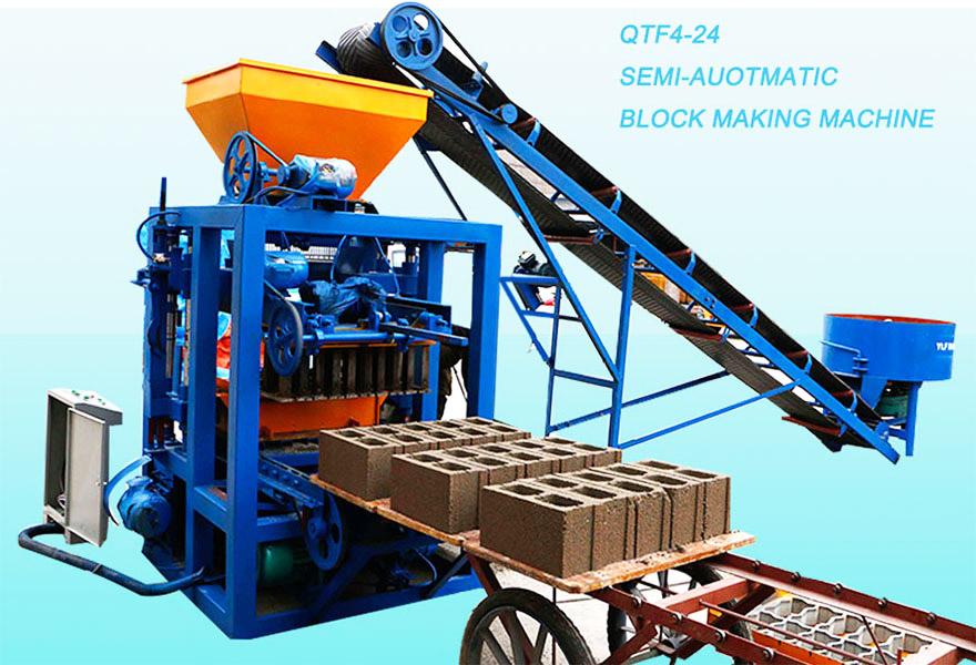 QT4-24 sand concrete cement block machine