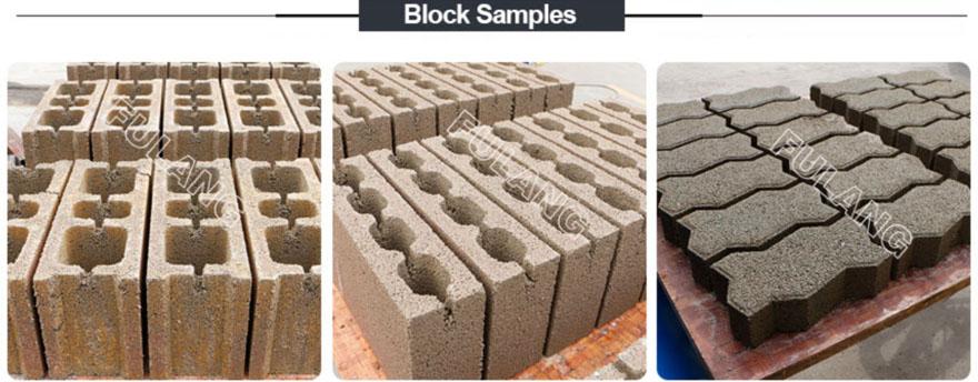 hollow solid concrete block samples