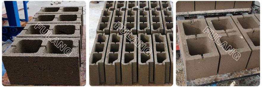 different paver block samples