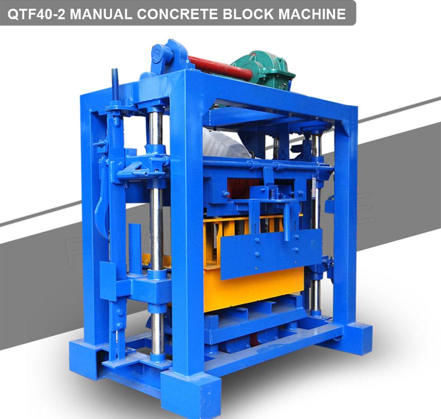 Concrete cement brick machine