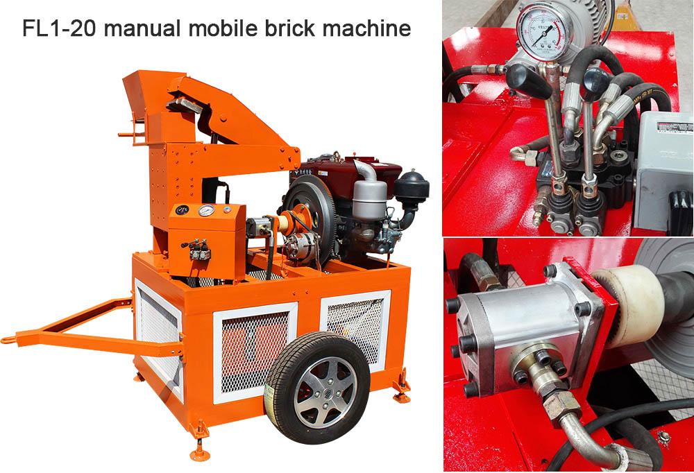 Mobile interlocking brick making machine