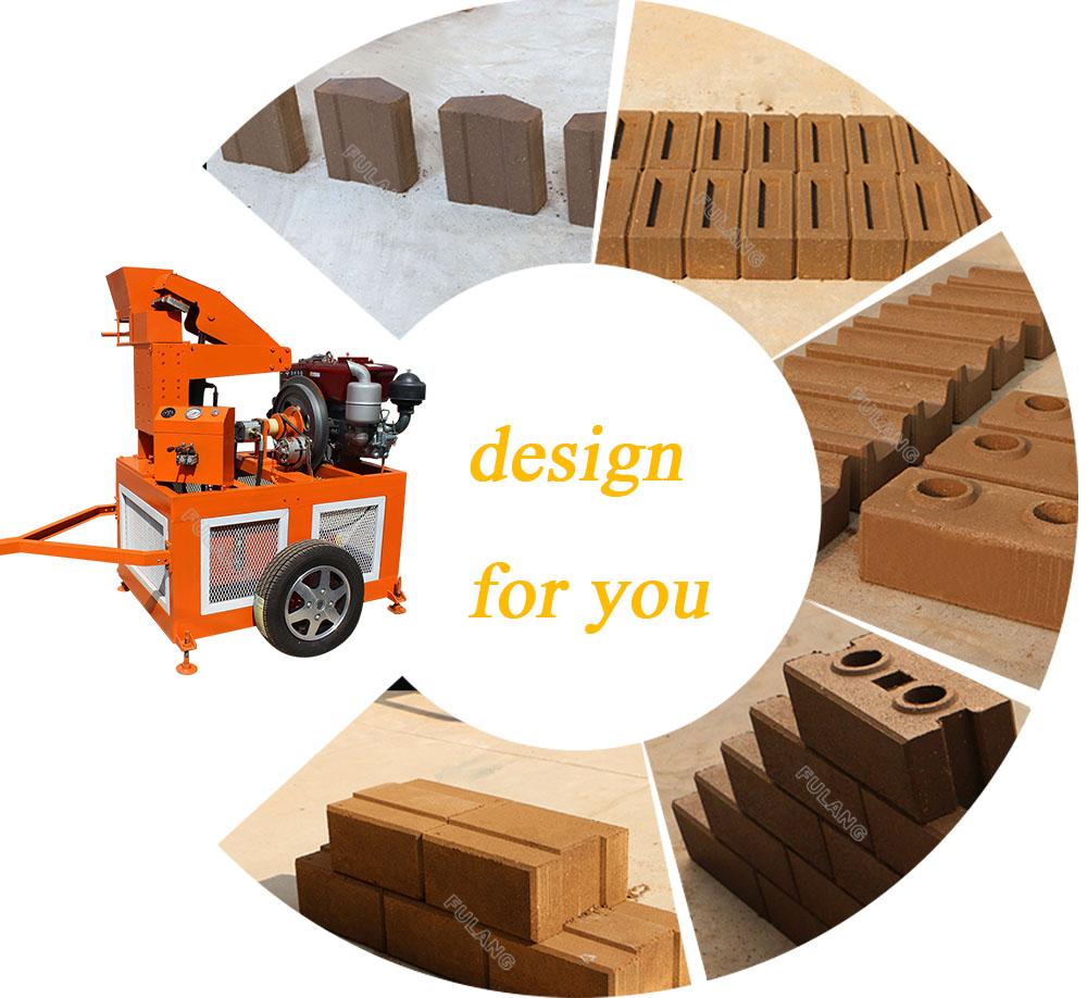 different compressed earth brick block