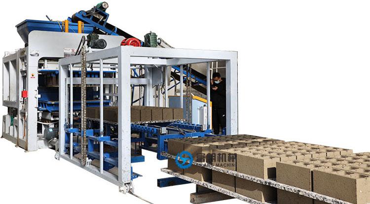 automatic production line for concrete blocks